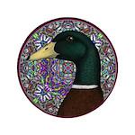 "Mallard Circle Mosaic 3.5"" Button (100 pack)"