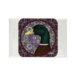 Mallard Circle Mosaic Rectangle Magnet (10 pack)