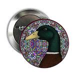 "Mallard Circle Mosaic 2.25"" Button (100 pack)"