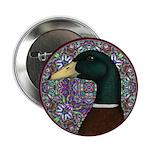 "Mallard Circle Mosaic 2.25"" Button"