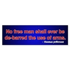 2nd Amendment Thomas Jefferson Bumper Bumper Sticker