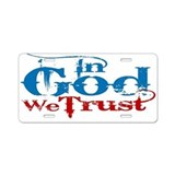 In God We Trust! Aluminum License Plate