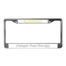 Running - Cheaper Than Therap License Plate Frame