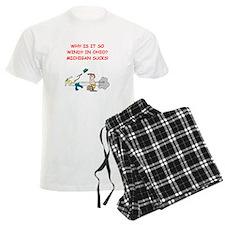 i hate michigan Pajamas