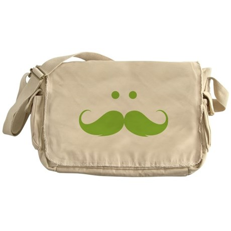 Moustache face Messenger Bag