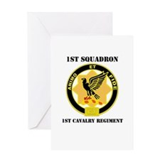 DUI - 1st Sqdrn - 1st Cav Regt with Text Greeting
