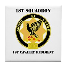 DUI - 1st Sqdrn - 1st Cav Regt with Text Tile Coas