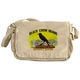 Black Crow Cigar Label Messenger Bag