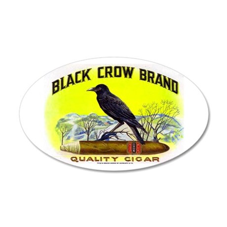 Black Crow Cigar Label 22x14 Oval Wall Peel