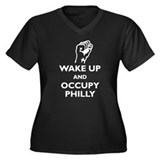 Occupy Philly Women's Plus Size V-Neck Dark T-Shir