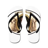 Shakespeare Cigar Label Flip Flops