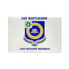 DUI - 1st Bn - 41st Infantry Regt with Text Rectan