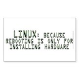 Linux. Because rebooting... Decal
