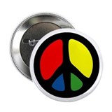 HIPPIE GROOVE PEACE Button