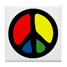 HIPPIE GROOVE PEACE Tile Coaster