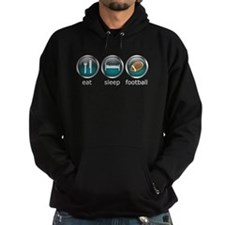 Eat Sleep Football : Hoodie