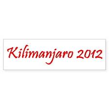 Kilimanjaro 2012 Bumper Sticker