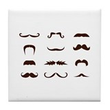 Moustache Collection Tile Coaster