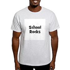 School Rocks Ash Grey T-Shirt