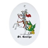 St. George Oval Ornament