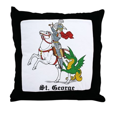 St. George Throw Pillow