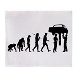 Auto Mechanic Throw Blanket