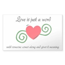 Just a Word Decal