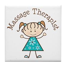 Massage Therapist Gift Tile Coaster