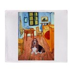 Room with a Basset Throw Blanket