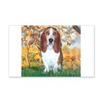 Monet's Spring & Basset 20x12 Wall Decal
