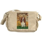 Monet's Spring & Basset Messenger Bag