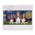 Starry Basset Throw Blanket
