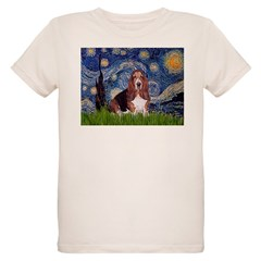 Starry / Basset Hound Organic Kids T-Shirt