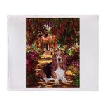 The Path & Basset Throw Blanket