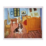 Van Gogh's Room & Basset Throw Blanket