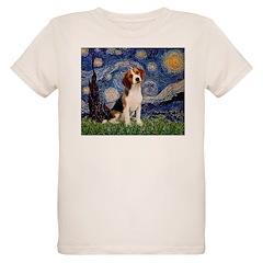 Starry Night / Beagle Organic Kids T-Shirt