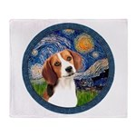 Starry Night Beagle #1 Throw Blanket