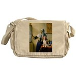 Woman w/Pitcher - Beagle Messenger Bag