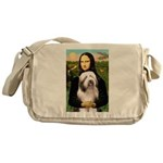 Mona / Bearded Collie #1 Messenger Bag