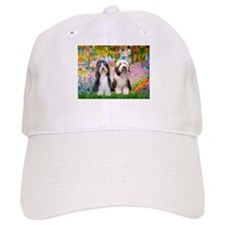 Garden / 2 Bearded Collie Baseball Cap
