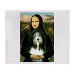 Mona / Bearded Collie Throw Blanket