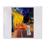Cafe / Bedlington T Throw Blanket