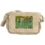 Irises /Bedlington T Messenger Bag