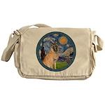 Starry/Belgian Malanois Messenger Bag