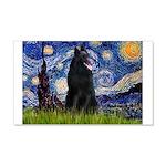 Starry Night /Belgian Sheepdog 20x12 Wall Decal