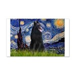 Starry Night /Belgian Sheepdog 20x12 Wall Decal