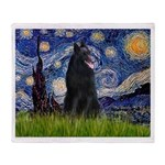 Starry Night /Belgian Sheepdog Throw Blanket