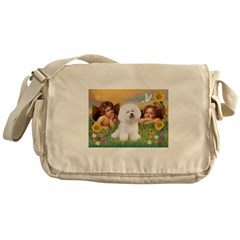 Angels/Bichon Frise Messenger Bag