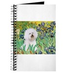 Irises and Bichon Journal