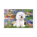 Llies & Bichon 20x12 Wall Decal